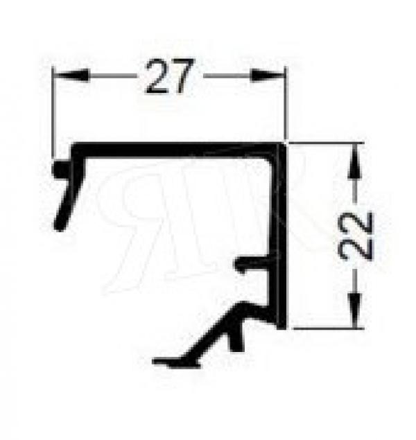 Алюминиевый штапик 27 Schuco 184060