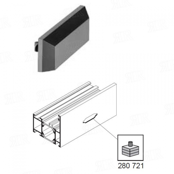 Водоотводной колпачок из ПВХ, цвет:черный  Schuco 208694