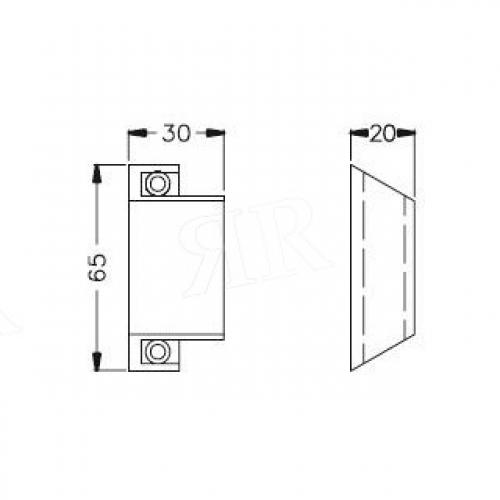 Ручка дверная притяжная цвет: RAL 9010 - «слоновая кость»  Schuco 229133