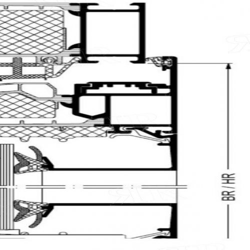 Средний уплотнитель для AWS 90.SI Schuco 284580
