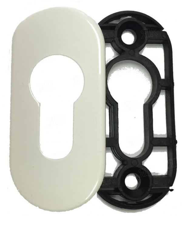 Розетка под цилиндр цвет: RAL 9016 — белый Schuco 218896