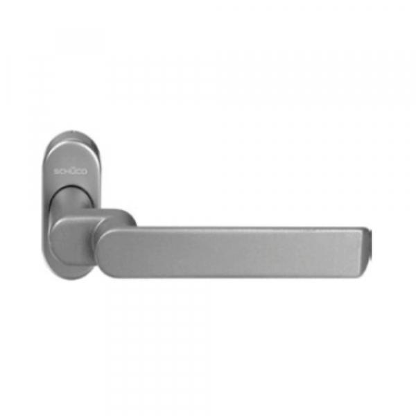 Ручка дверная нажимная  цвет: RAL 9016 - белый Schuco 240159