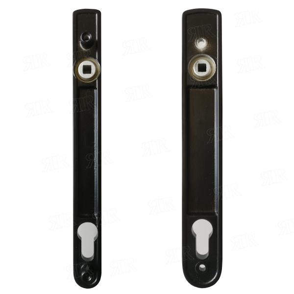 Ручка дверная нажимная  H/FL цвет: RAL 9005 - черный   Schuco 247216