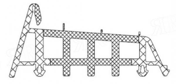 Уголок среднего уплотнителя для AWS 90.SI Schuco 284581
