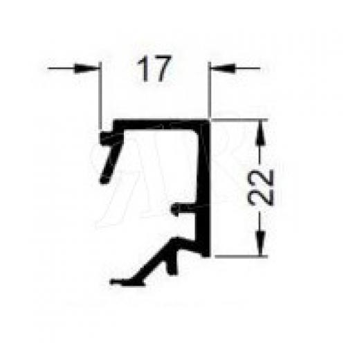 Алюминиевый штапик 17 Schuco 184040