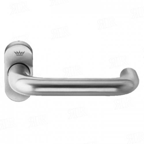 Ручка дверная нажимная Schuco  210713 цвет: Inox-Look — под нержавейку