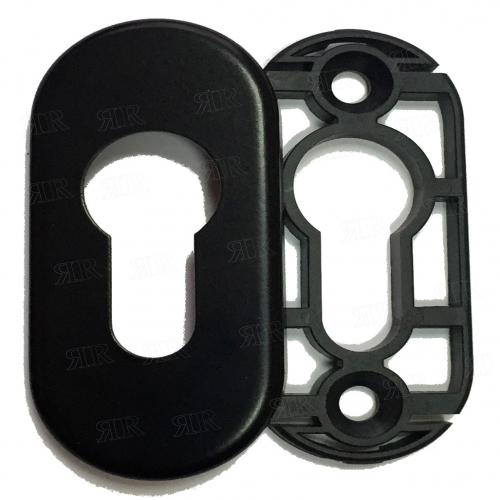 Розетка под цилиндр цвет: RAL 9005 — черный Schuco 227652