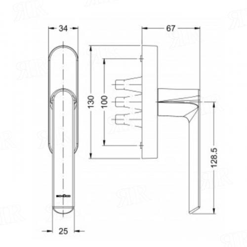 Ручка с редукторомцвет: СО — неокрашенный Schuco269559